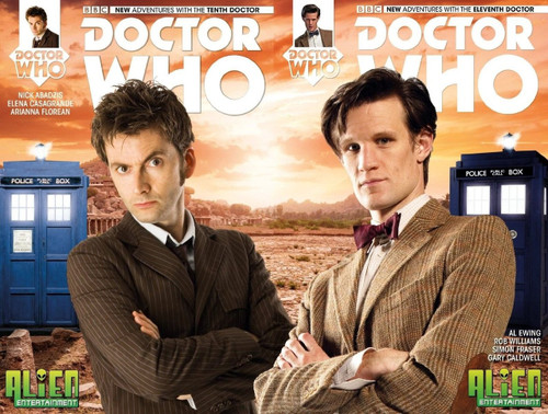 Doctor Who 10th & 11th Doctor Comic Book #1 (set of 2)