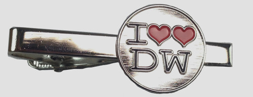 """I """"Double Heart"""" Love The Doctor Tie Clip"""