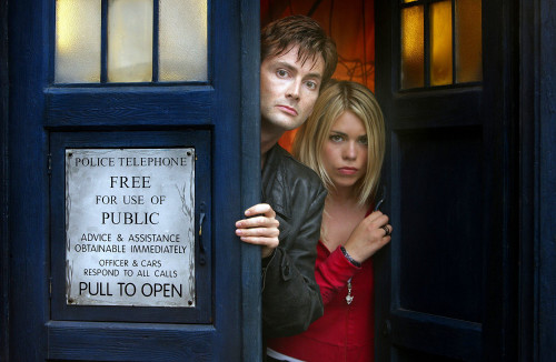 The 10th Doctor with Rose Tyler Print
