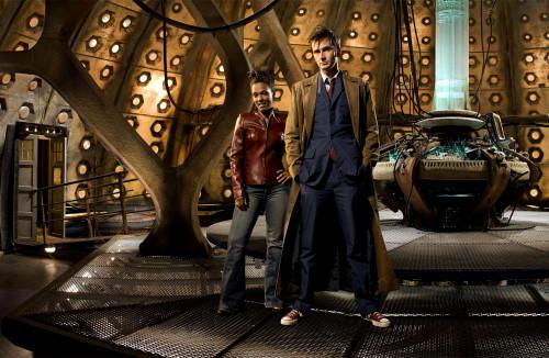 The 10th Doctor with Martha Jones Print
