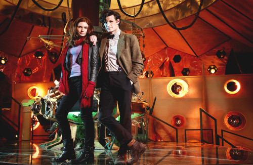 11th Doctor with Amy Pond Print