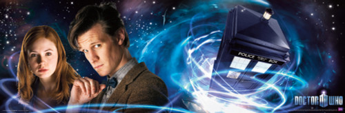 "The 11th Doctor and Amy Poster 36"" X 11.75"""