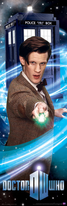 "The 11th Doctor and Sonic Screwdriver Poster 11.75"" X 36"""