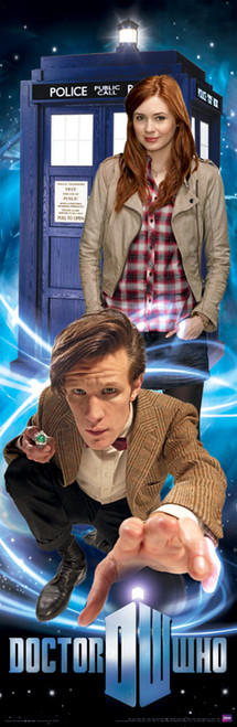 """11th Doctor, Amy and the TARDIS Poster 11.75"""" X 36"""""""
