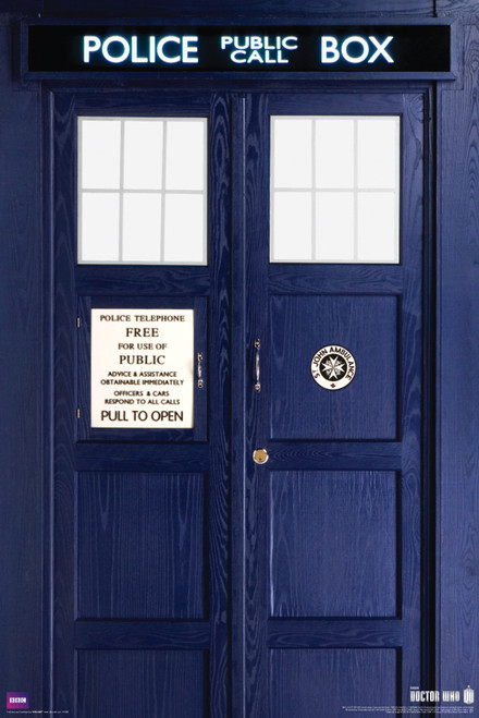 "11th Doctor TARDIS Poster 24"" X 36"""