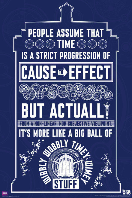"Wibbly Wobbly Quote Poster 24"" X 36"""