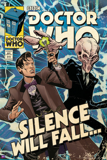 """Silence Will Fall Comic Cover Poster 24"""" X 36"""""""