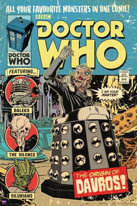 "Origin of Davros Comic Cover Poster 24"" X 36"""