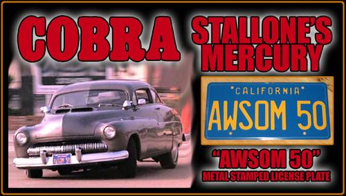 """License Plate - COBRA - """"Awsom 50"""""""