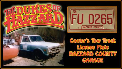"License Plate - The DUKES of Hazzard - ""FU 0265"""