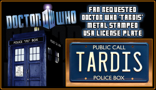 """License Plate - DOCTOR WHO - """"TARDIS"""""""