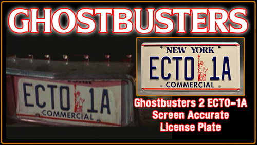 "License Plate - GHOSTBUSTERS- ""ECTO 1A"""