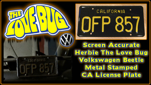 """License Plate - The LOVE BUG - """"OFP 857"""""""