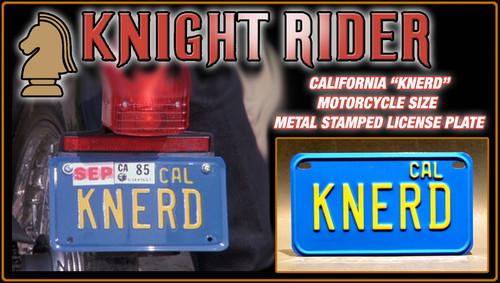 """License Plate - KNIGHT RIDER - """"KNERD"""""""