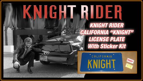 "License Plate - KNIGHT RIDER - ""KNIGHT"""
