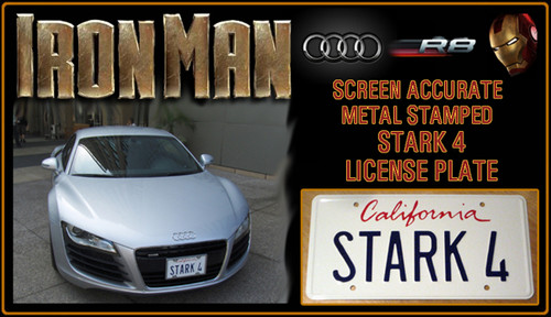 "License Plate - IRON MAN - ""STARK4"""