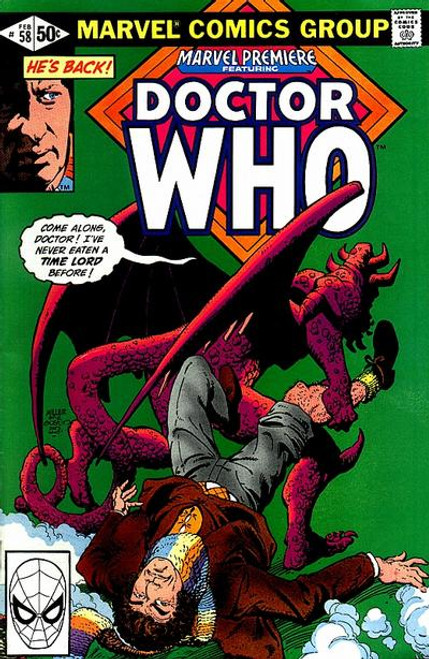 Doctor Who Marvel Premiere Comics #58 (Second Doctor Who appearance in US Comics from 1981)
