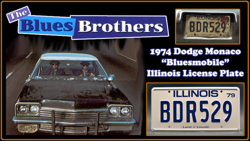 """License Plate - The BLUES BROTHERS - """"BDR529"""""""