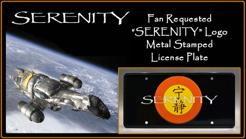 "License Plate - SERENITY - ""SERENITY"""