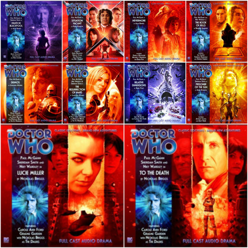 Complete set of 8 Eighth Doctor Adventures Big Finish Audio CDs - Season 4