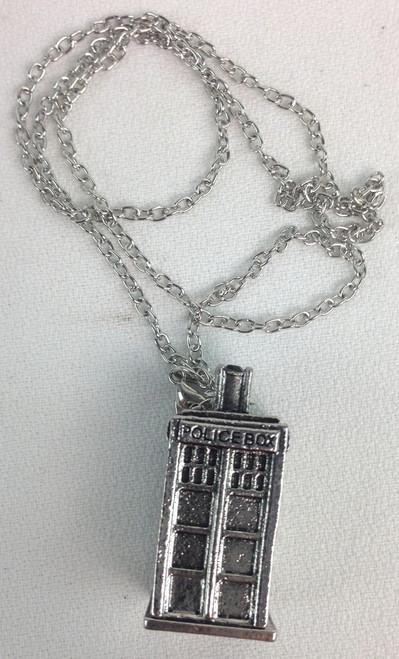 TARDIS 3D Silver Pendant
