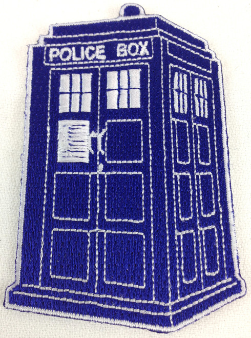 TARDIS Patch With Exposed Stitching