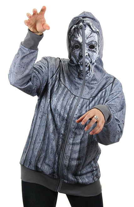 Weeping Angel Zip-Up Unisex Costume Hoodie