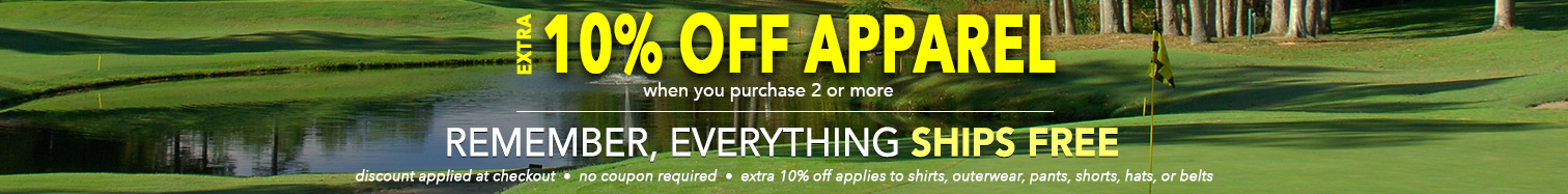 Extra 10% Off apparel! Plus, everthing Ships FREE • Limited Time Offer