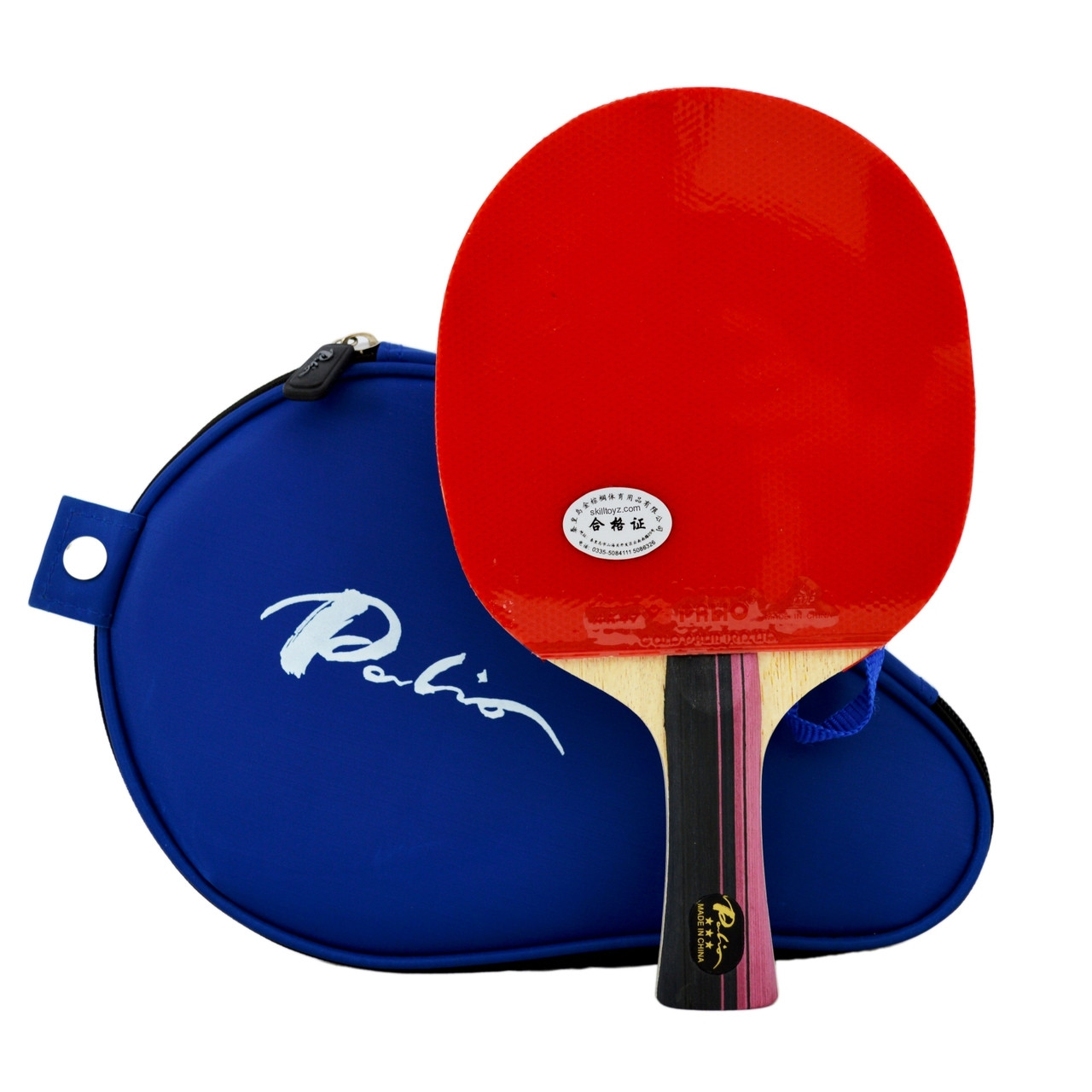 Palio 3 Star Professional Table Tennis Bat with case fitted with Palio AK47 Biotech rubbers  sc 1 st  SkillToyz & Palio 3 Star Professional Table Tennis Bat with case AK47 Rubbers