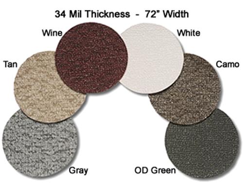 MariDeck Marine Vinyl Flooring - 6' Wide x Various Foot Lengths - 34 mil.