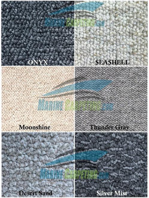 1986 Sea Ray 390 Sundancer 7-Piece Replacement Carpet Set