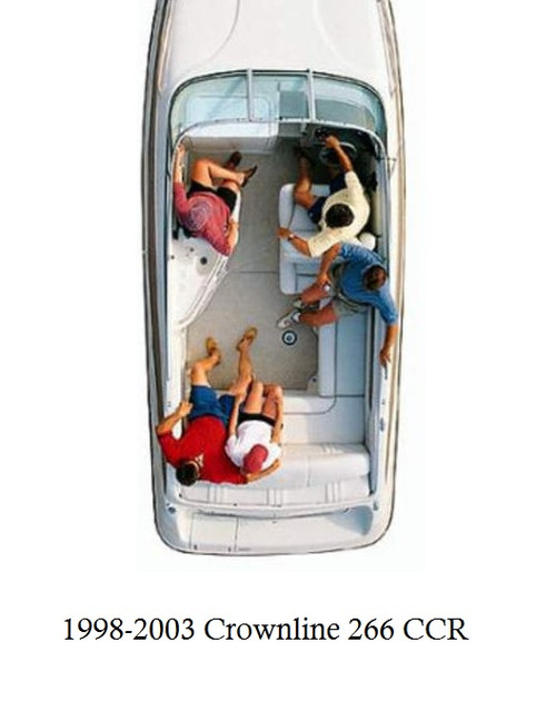1998-2003 Crownline 266 CCR Infinity Luxury Woven Vinyl Replacement Set