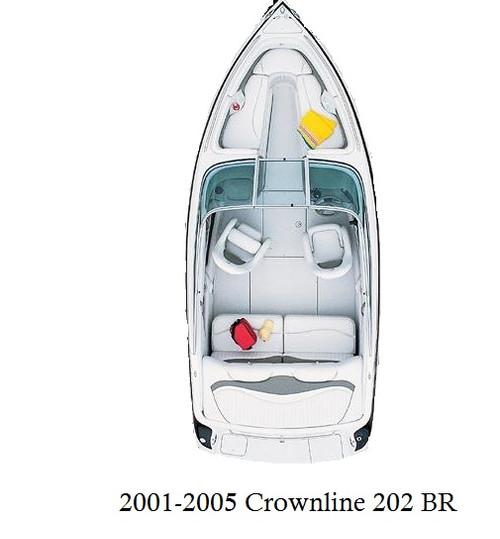 2001-2005 Crownline 202 BR Infinity Luxury Woven Vinyl Replacement Set