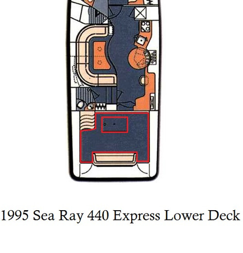 1995 Sea Ray 440 Express Cruiser (Lower Deck) Infinity Luxury Woven Vinyl Replacement Set