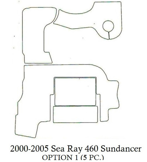 2000-2005 Sea Ray 460 Sundancer (Opt 1) Infinity Luxury Woven Vinyl Replacement Set