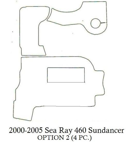 2000-2005 Sea Ray 460 Sundancer (Opt 2) Infinity Luxury Woven Vinyl Replacement Set
