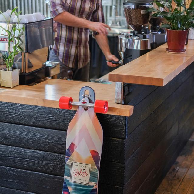 Palate Coffee Bar Amp Arbor Axis Koa The Longboard Store
