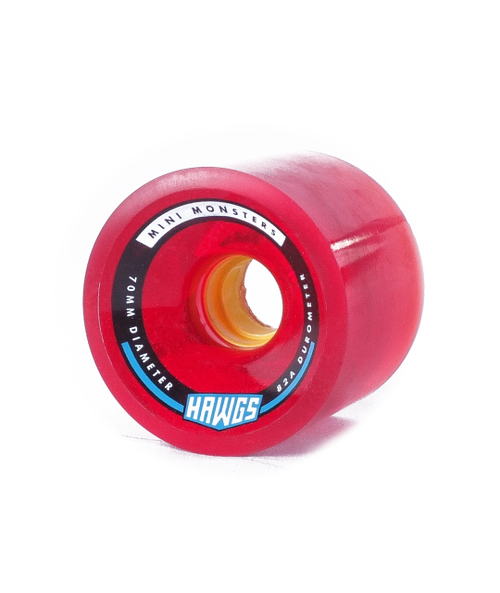 Hawgs Mini Monster 70mm 82a Clear Red Wheels The