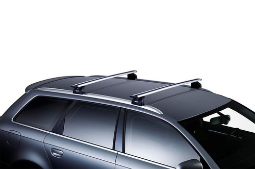 "Hyundai Elantra Thule Roof Rack Kit - 53"" AeroBlade Bars - Stock Photo"