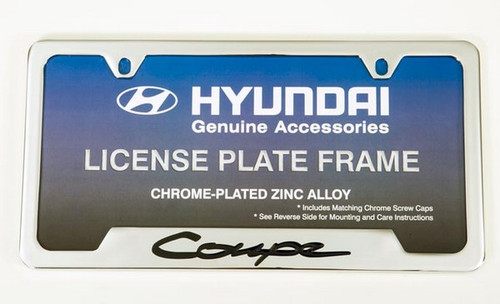 Hyundai Genesis Coupe Chrome License Plate Frame