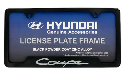 Hyundai Genesis Coupe Black License Plate Frame
