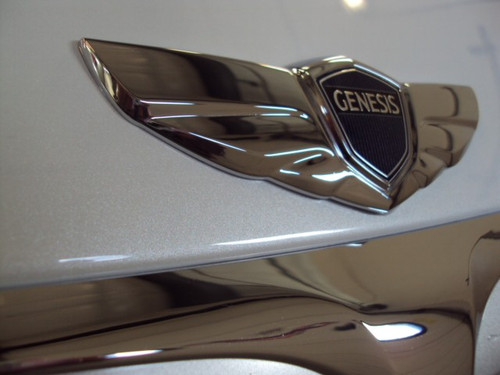 Hyundai Genesis Wing Emblem Set - Hood Emblem