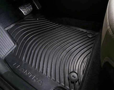 Perfect Hyundai Elantra Rubber Floor Mats
