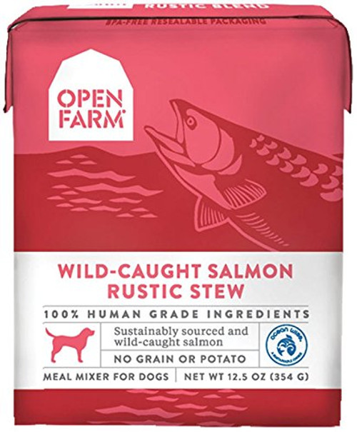 Open Farm Wild-Caught Salmon Rustic Stew 12.5 Ounce Tetrapacks