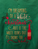 The 'Dreaming of a white Christmas - wine' design