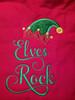A close up of the Elves Rock design