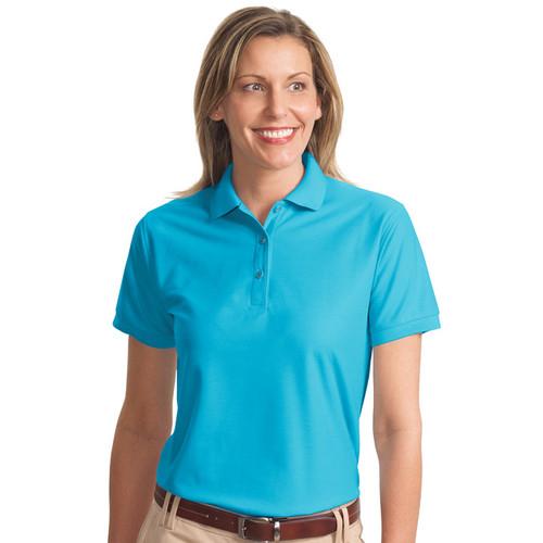 Short sleeve silk touch polo