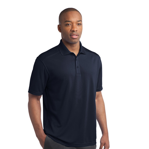 Logoed wicking polo