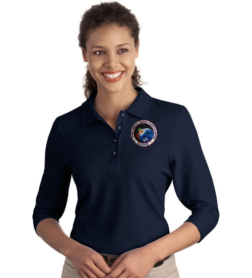 Shown in navy