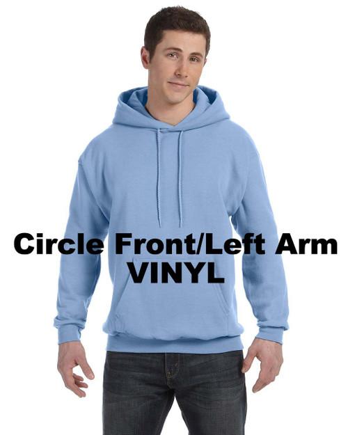 Pullover Hoodie  RHStyle-CircFrontArmVnyl